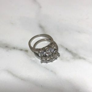 Size 7 Diamond Rings set of two